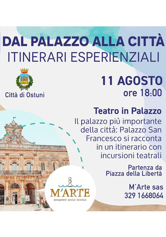 Un viaggio nel tempo a Palazzo San Francesco di Ostuni l'11 agosto
