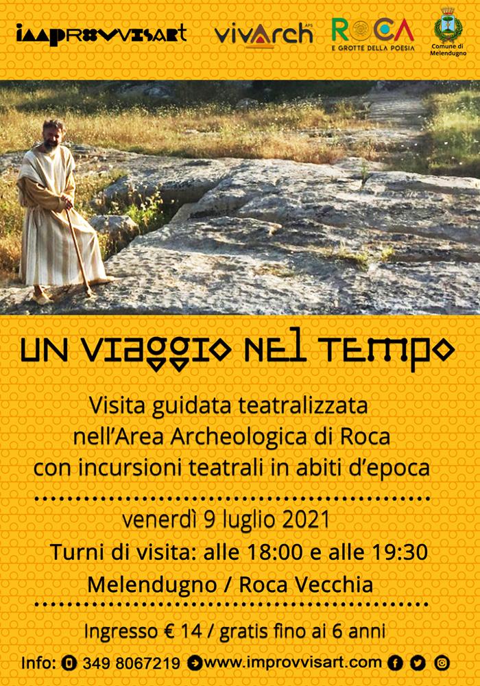 Un viaggio nel tempo - visita teatralizzata a Roca Vecchia venerdì 23 luglio